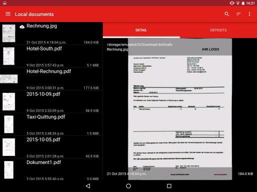 doXisafe – 扫描和文字识别截图5