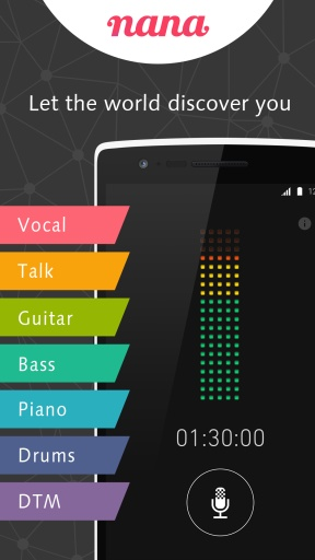 Sing, record and share! nana截图2