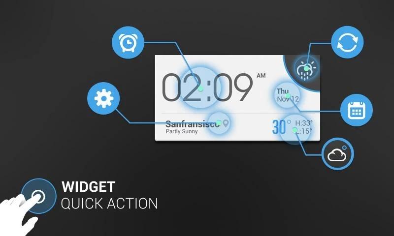 極致簡潔桌面天氣時鐘,經典設計,透明小工具,清新風格截图0