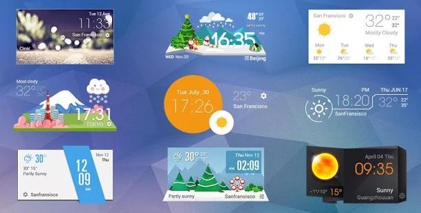 極致簡潔桌面天氣時鐘,經典設計,透明小工具,清新風格截图1