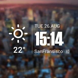 極致簡潔桌面天氣時鐘,經典設計,透明小工具,清新風格截图2
