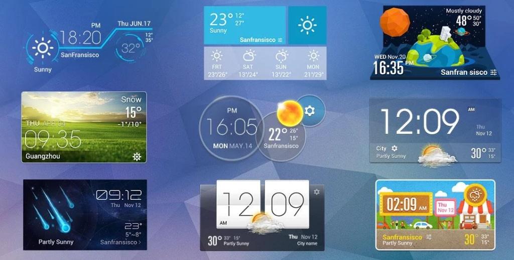 極致簡潔桌面天氣時鐘,經典設計,透明小工具,清新風格截图4
