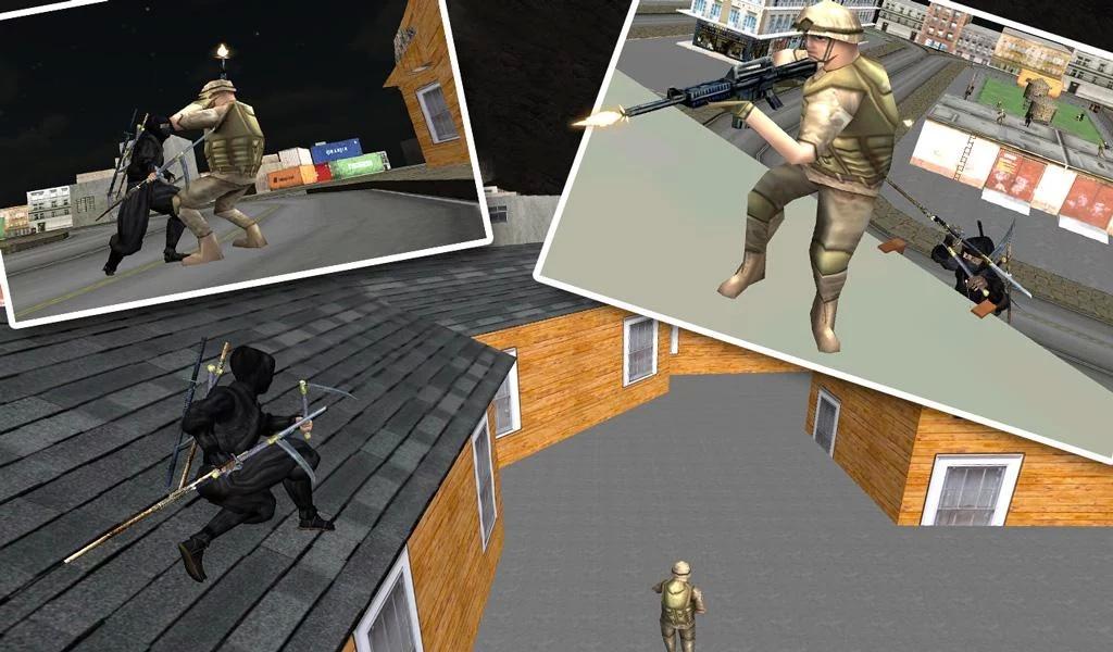 城市忍者刺客战士3D截图1
