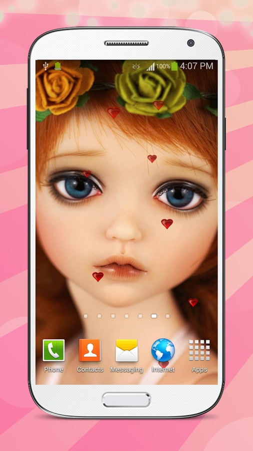 甜美的娃娃 動態壁紙 高清