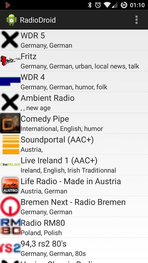 手机电台RadioDroid截图0