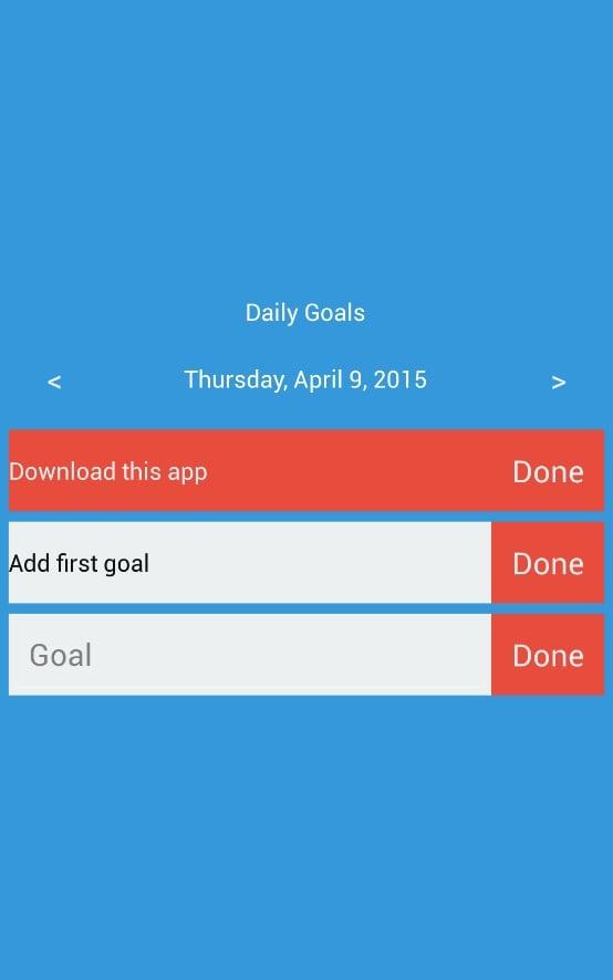 Daily Goals截图0