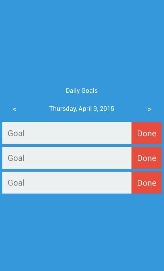 Daily Goals截图1