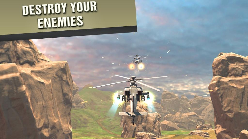 直升机战争VR截图1