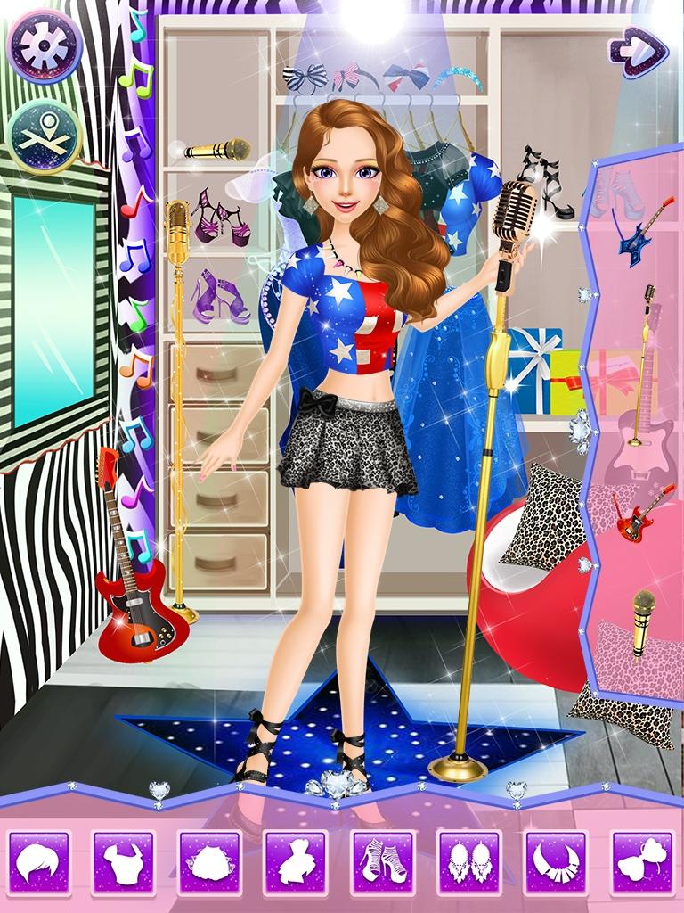 超级明星沙龙 - 女孩游戏截图2