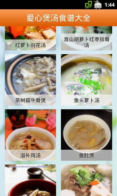 爱心煲汤食谱大全截图2