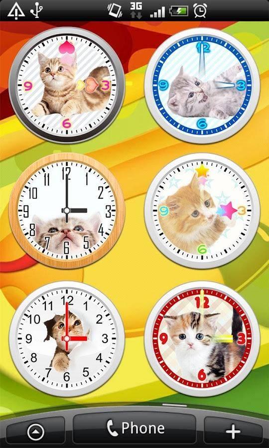 猫咪桌面指针时钟截图1