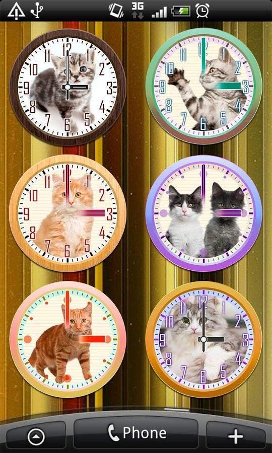 猫咪桌面指针时钟截图3