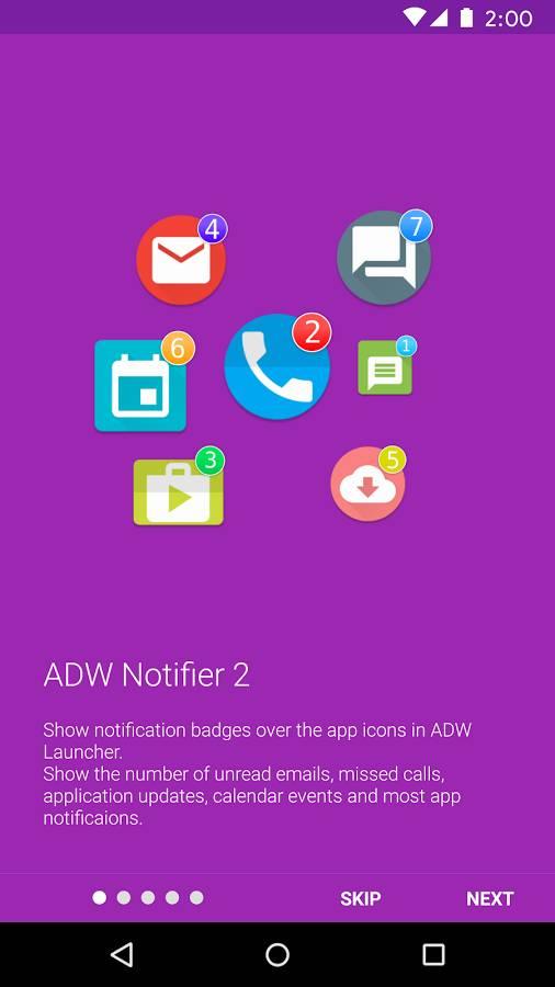 ADW启动器通知数量