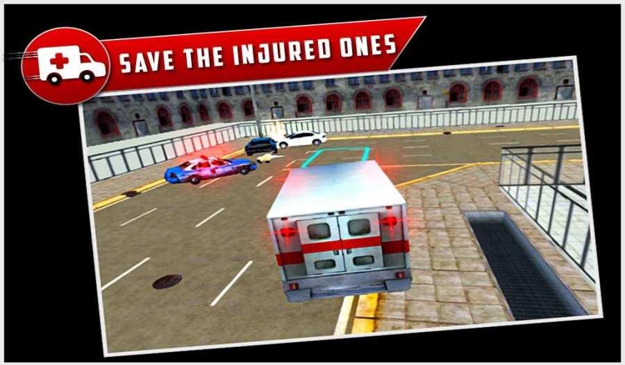 市救护车救援驱动3D