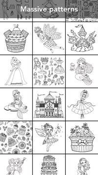 Princess coloring book截图5