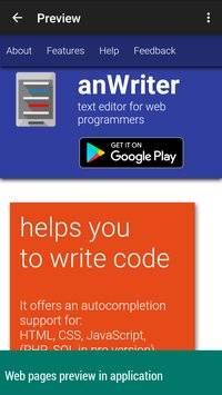 anWriter free HTML editor截图6