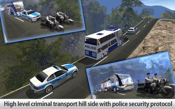 Police Bus Hill Climb Driver截图1