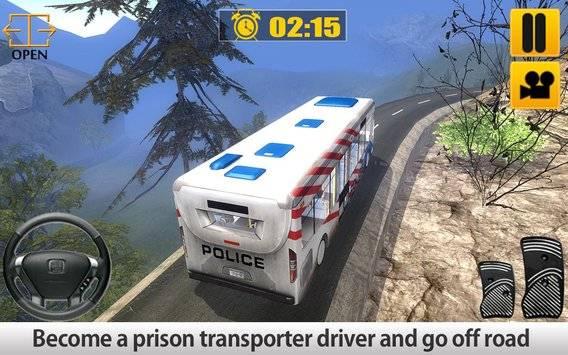 Police Bus Hill Climb Driver截图5