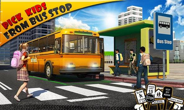 Schoolbus Driver 3D SIM截图0