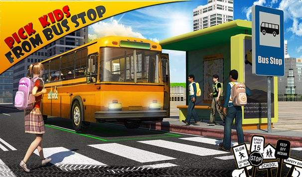 Schoolbus Driver 3D SIM截图10
