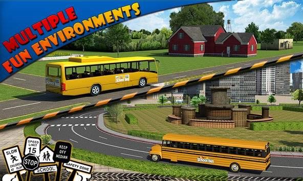 Schoolbus Driver 3D SIM截图4