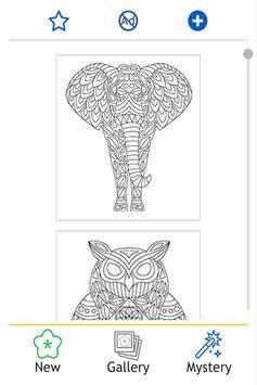 Coloring Book: Animal Mandala截图1