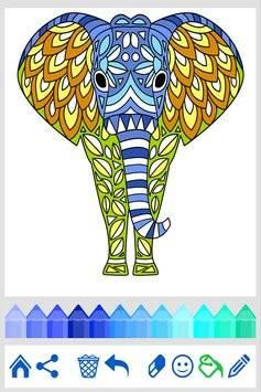 Coloring Book: Animal Mandala截图3