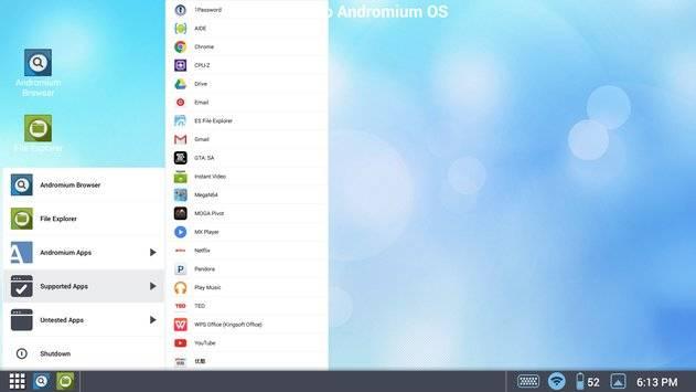 Andromium OS截图1
