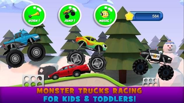 Monster Trucks Game for Kids 2截图0