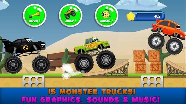 Monster Trucks Game for Kids 2截图1