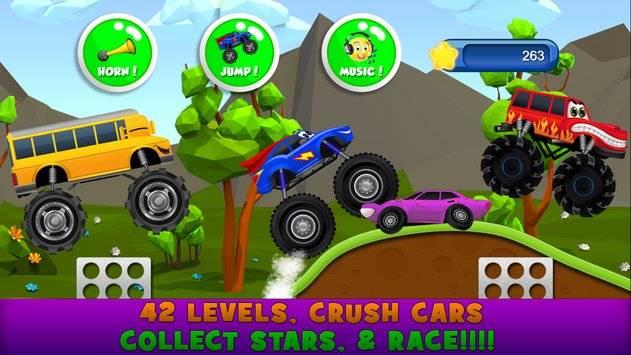 Monster Trucks Game for Kids 2截图3