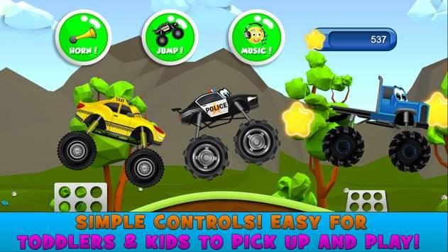Monster Trucks Game for Kids 2截图4