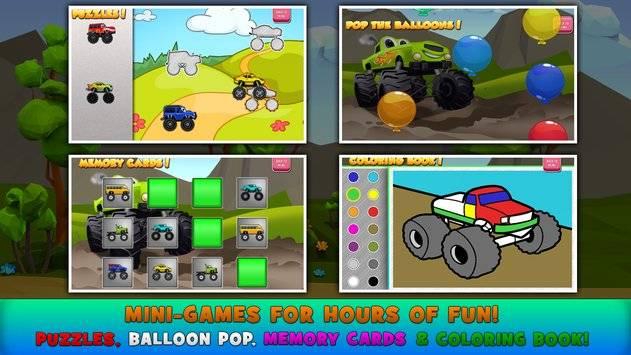 Monster Trucks Game for Kids 2截图8