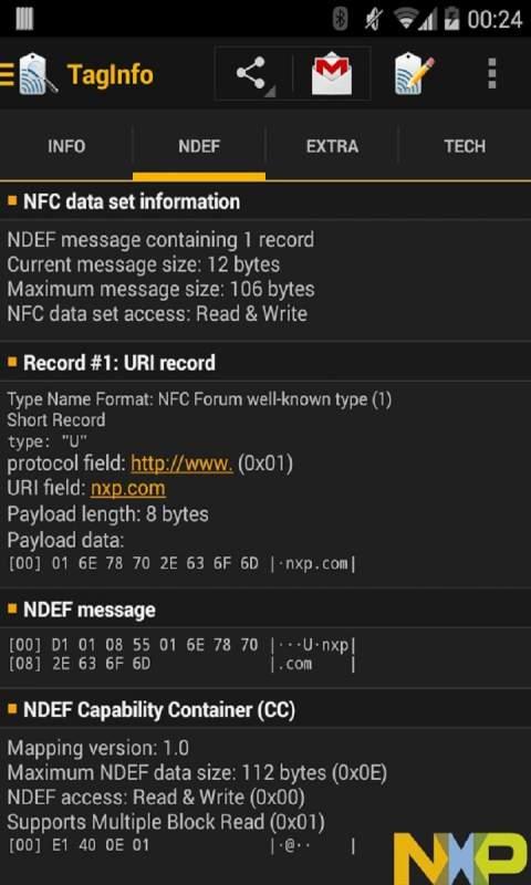 NFC标签读取TagInfo截图2