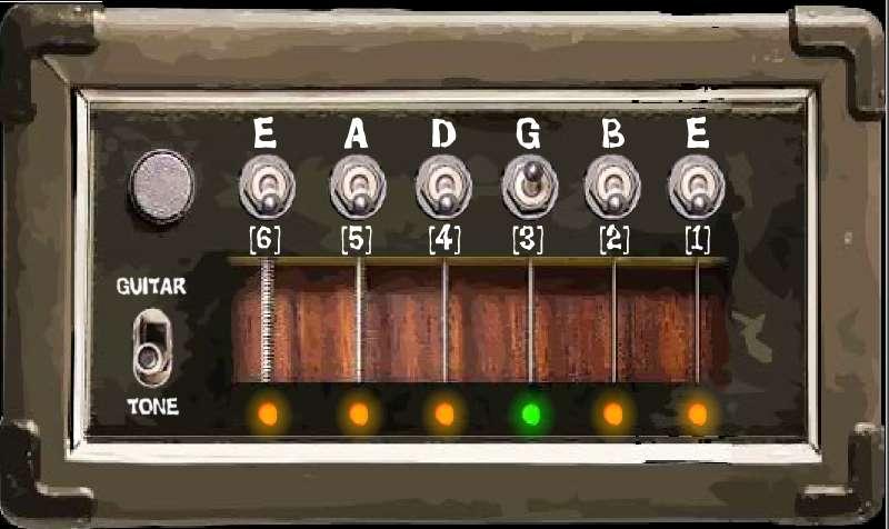 设置吉他调谐器