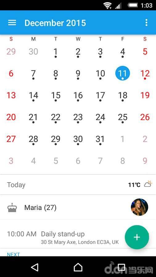 Xperia日历