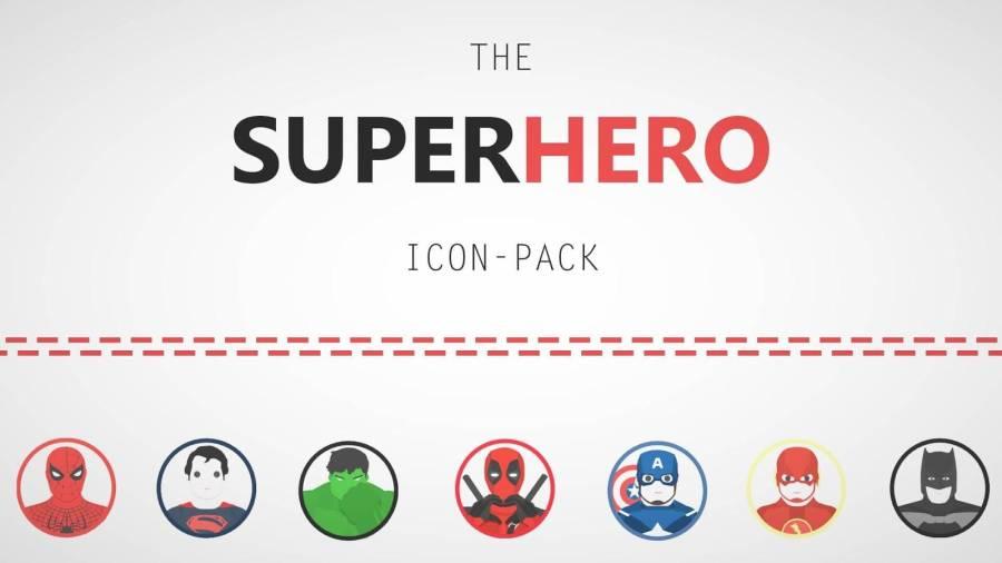 超级英雄图标包:Superhero