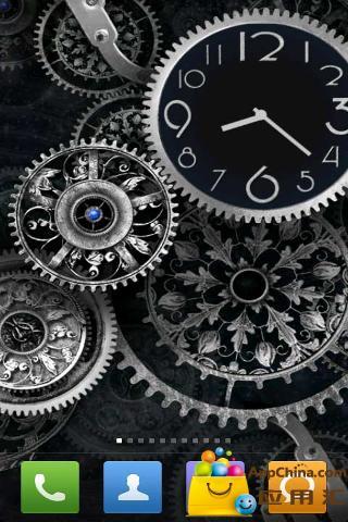 黑色时钟动态壁纸