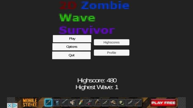 2D Zombie Wave Survivor