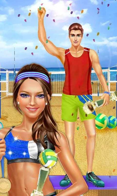 夏季沙滩排球派对 - 运动女生游戏截图0