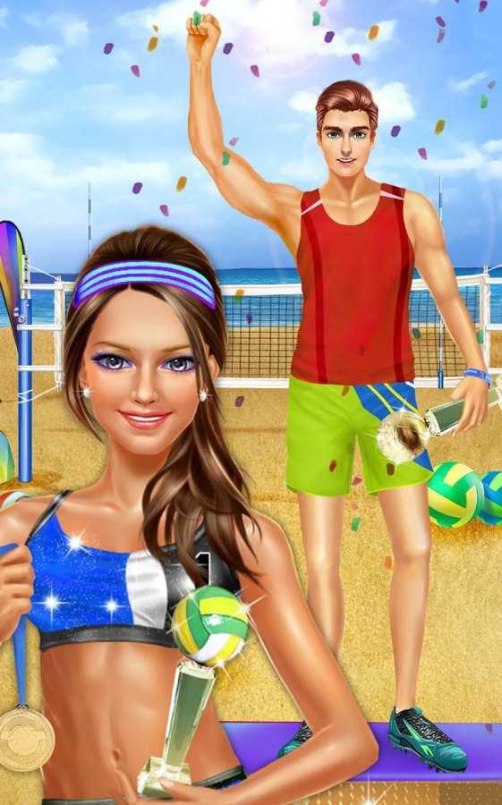 夏季沙滩排球派对 - 运动女生游戏截图4