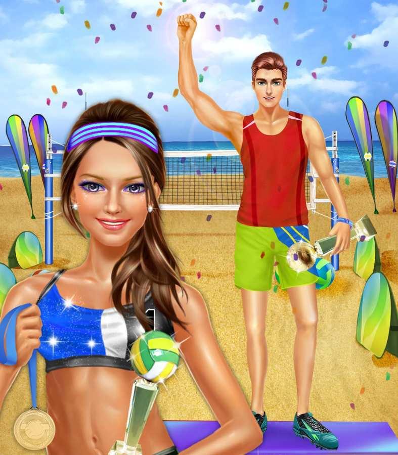 夏季沙滩排球派对 - 运动女生游戏截图5
