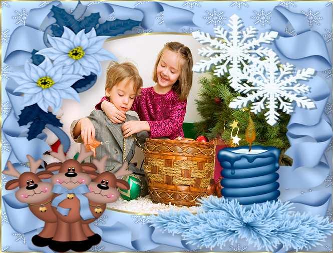 漂亮的圣诞相框