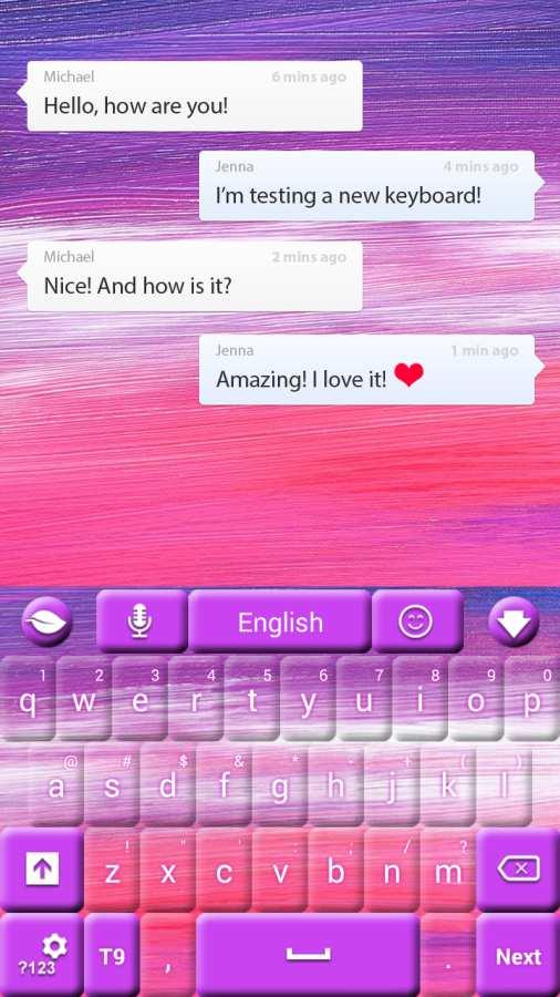 粉红色的天空GO键盘