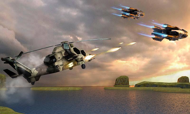 直升机大战外星人截图1