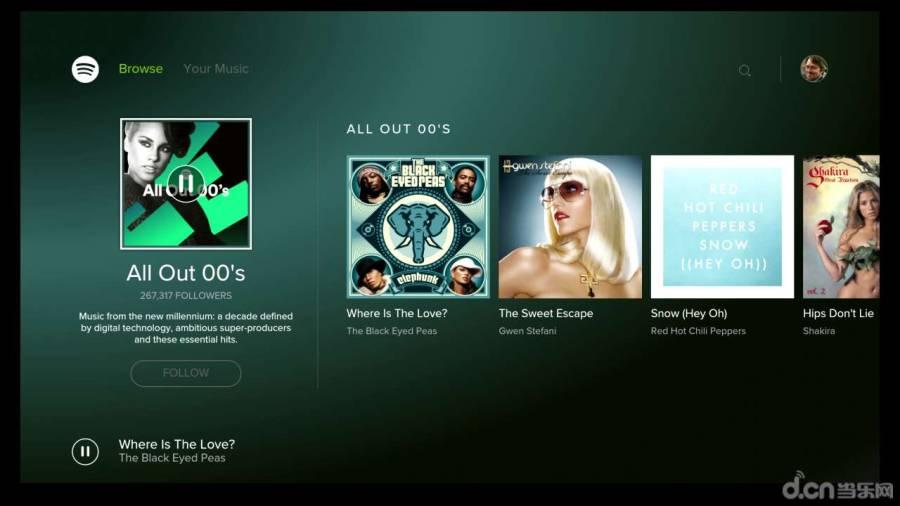 Spotify电视版截图2