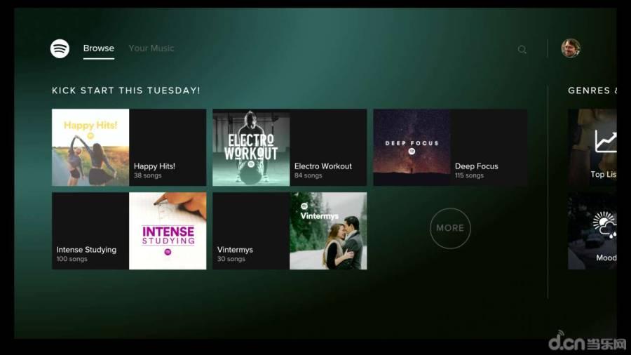 Spotify电视版截图3