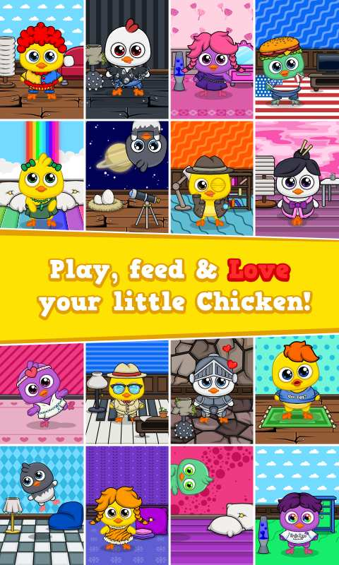 我的鸡 - 虚拟宠物游戏截图3