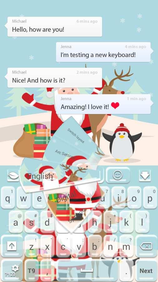 圣诞快乐键盘截图0