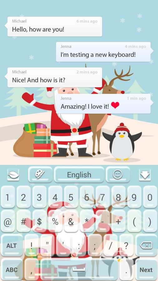 圣诞快乐键盘截图3